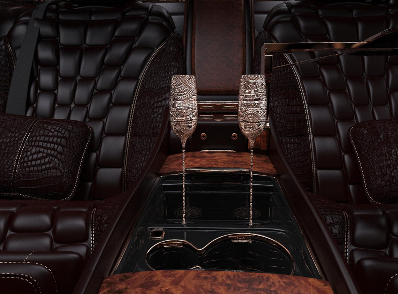 Машина из чистого золота: Scaldarsi создала неповторимый Emperor I на базе Mercedes-Maybach S600