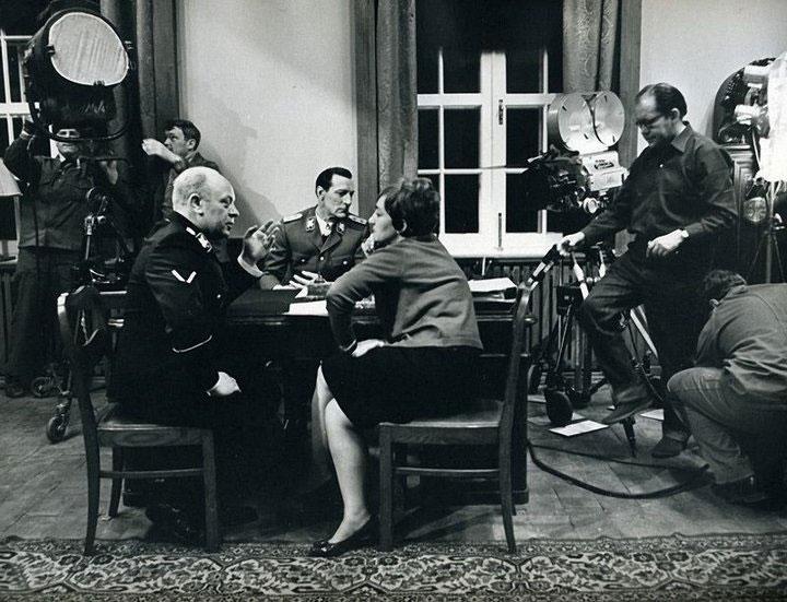 Редкие сцены со съёмочных площадок советских киностудий