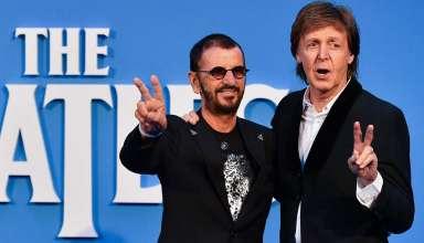 """Пол Маккартни и Ринго Стар на премьере документального фильма """"The Beatles"""""""
