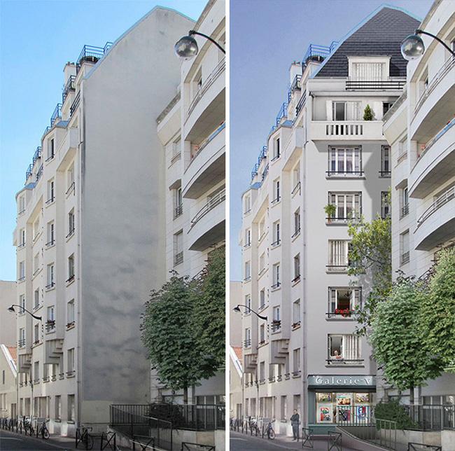 Французский художник Патрик Коммеси превращает здания в произведения искусства