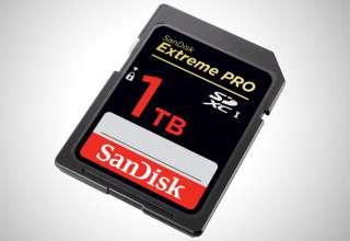 SanDisk SDXC 1TB. Компания Western Digital представила первую в мире карту памяти объемом 1Тбайт
