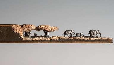 Стадо слонов из обычного карандаша