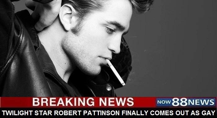 СМИ заставляют поверить поклонников Роберта Паттинсона в то, что он гей