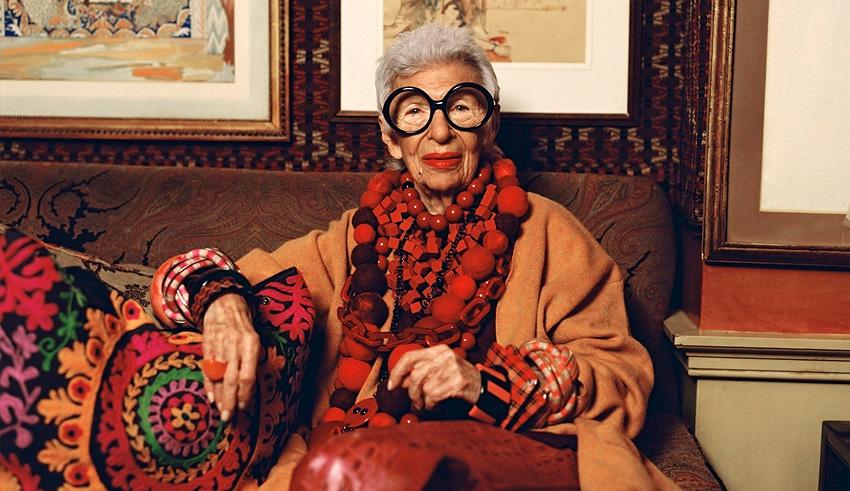 95-летняя модель Айрис Апфель снялась в рекламе оправ для очков