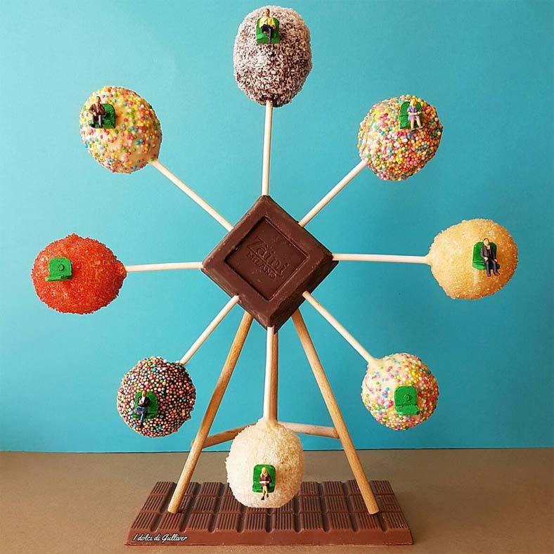 Итальянский кондитер Matteo Stucchi создаёт миниатюрные сцены с участием своих десертов