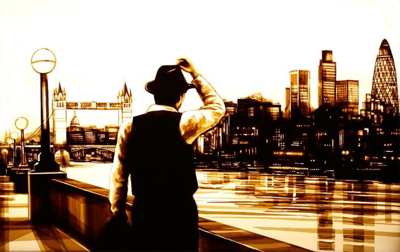 Интересные картины из упаковочного скотча от талантливого Макса Зорна
